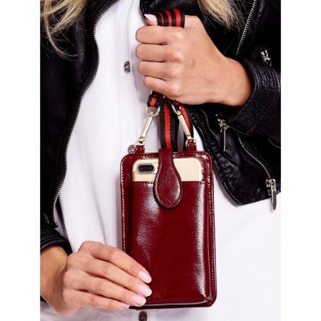 Portdocument (mini-borseta de umar) cu husa telefon din piele ecologioca (PU)   BOR108