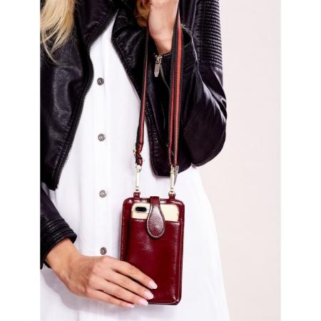 Portdocument (mini-borseta de umar) cu husa telefon din piele ecologioca (PU)   BOR106