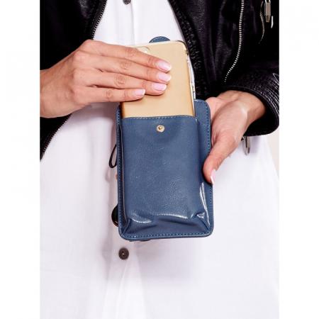 Portdocument (mini-borseta de umar) cu husa telefon din piele ecologioca (PU) BOR1001