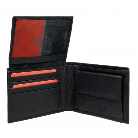 Set cadou barbati din piele naturala, Negru, PORM6321