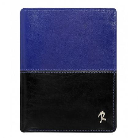 Portofel barbati din piele naturala cu protectie RFID Rovicky PORM573 Albastru