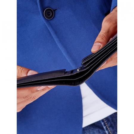 Portofel barbati piele naturala de lux Rovicky PORM43 Negru, cu RFID10
