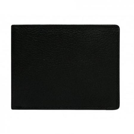 Portofel barbati, PORMG013, piele naturala, Negru, cu RFID