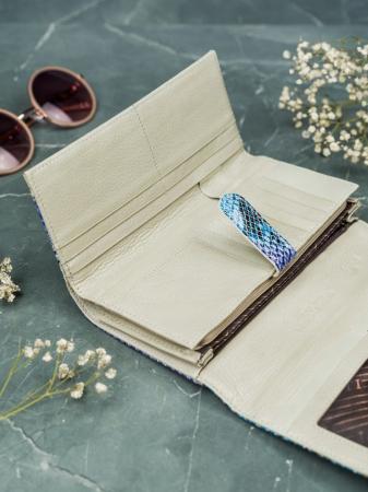 Portofel de lux pentru dama din piele naturala PORTG005 model sarpe10