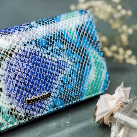 Portofel de lux pentru dama din piele naturala PORTG005 model sarpe5