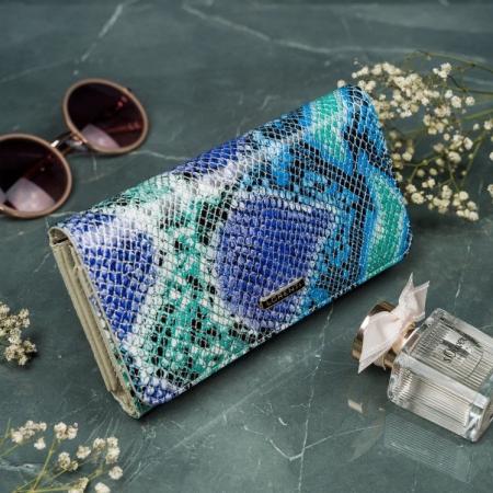 Portofel de lux pentru dama din piele naturala PORTG005 model sarpe2