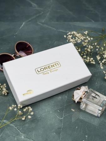 Portofel de lux pentru dama din piele naturala PORTG009 model sarpe, Lila3