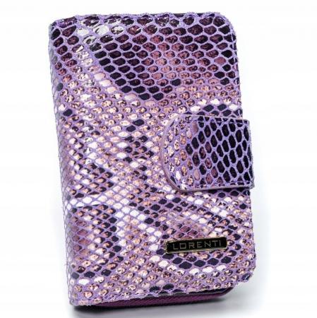 Portofel de lux pentru dama din piele naturala PORTG010 model sarpe, Lila