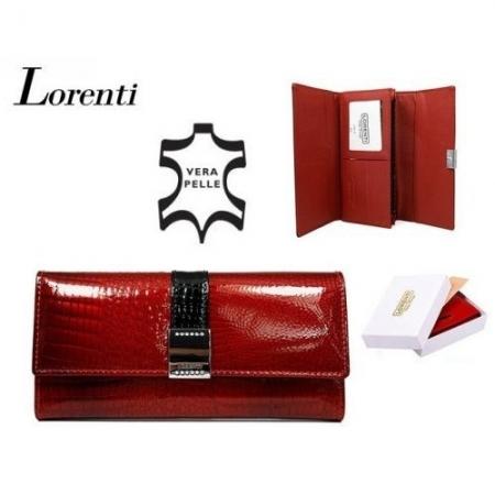Portofel de lux pt. dama din piele naturala Lorenti PORT515 Rosu1