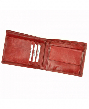 Portofel de Lux Rosu piele naturala Rovicky PORTG036 UNISEX [7]