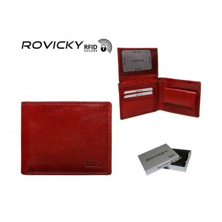 Portofel de Lux Rosu piele naturala Rovicky PORTG036 UNISEX [5]