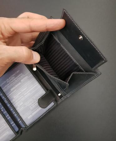 Set cadou barbati Wild BuffalO, portofel si curea din piele naturala, PORMG9005