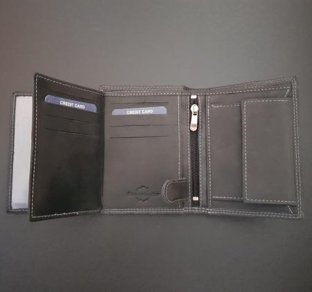 Set cadou barbati Wild BuffalO, portofel si curea din piele naturala, PORMG90010