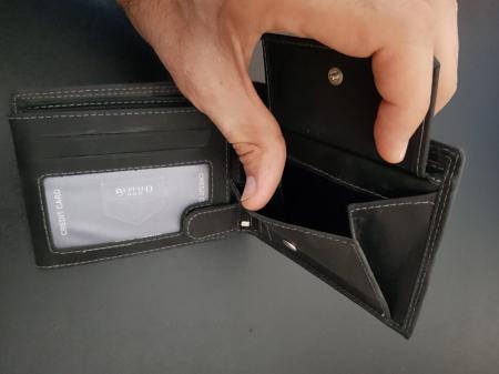Set cadou barbati Wild BuffalO, portofel si curea din piele naturala, PORMG90213