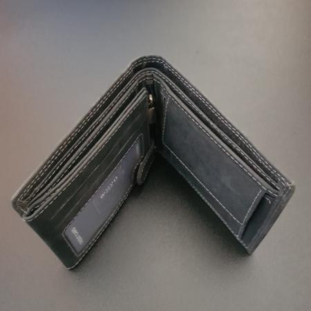 Set cadou barbati Wild BuffalO, portofel si curea din piele naturala, PORMG90214