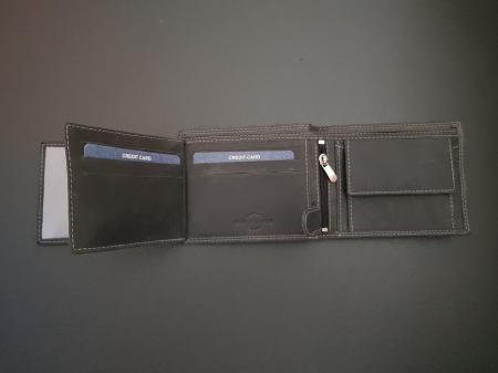 Set cadou barbati Wild BuffalO, portofel si curea din piele naturala, PORMG90221