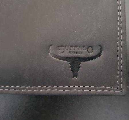Set cadou barbati Wild BuffalO, portofel si curea din piele naturala, PORMG90222