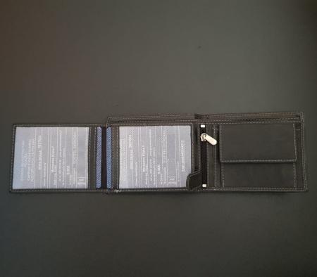 Set cadou barbati Wild BuffalO, portofel si curea din piele naturala, PORMG90226