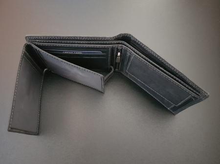 Set cadou barbati Wild BuffalO, portofel si curea din piele naturala, PORMG9024