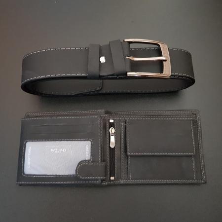 Set cadou barbati Wild BuffalO, portofel si curea din piele naturala, PORMG9022