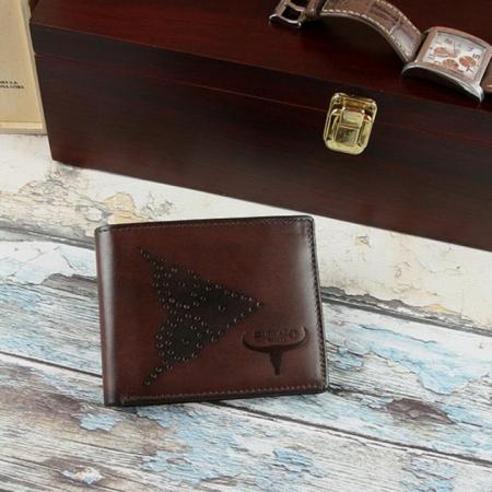 Set cadou barbati (portofel + curea) din piele naturala Wild PORM8026