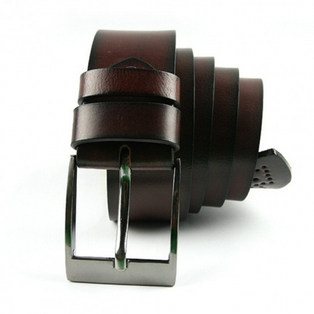 Set cadou barbati (portofel + curea) din piele naturala Wild PORM8024