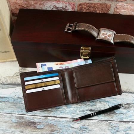 Set cadou barbati (portofel + curea) din piele naturala Wild PORM8021