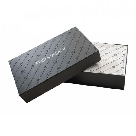 Set cadou barbati, portofel si curea din piele naturala, Rovicky, PORMG905, cu RFID14