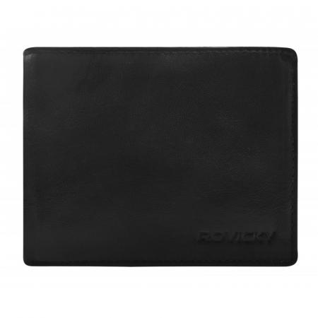 Set cadou barbati, portofel si curea din piele naturala, Rovicky, PORMG905, cu RFID3