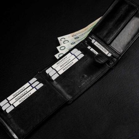 Set cadou barbati, portofel si curea din piele naturala, Rovicky, PORMG905, cu RFID11
