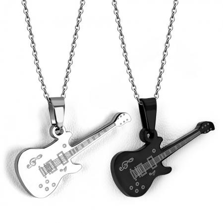 Set Pandante inox cu doua chitare electrice1