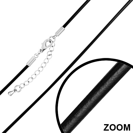 Snur negru 55 cm si 2 mm LSL0096