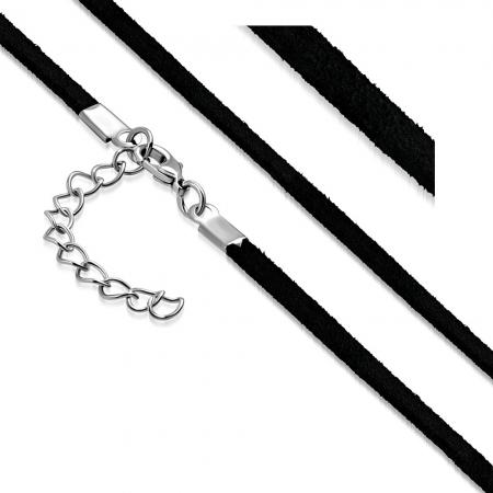 Snur negru 62 cm si 3 mm LSL0097