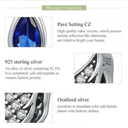 Talisman argint cu aripi de inger si zirconii [6]