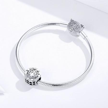 Talisman argint cu copacul vietii si mesaj de dragoste3