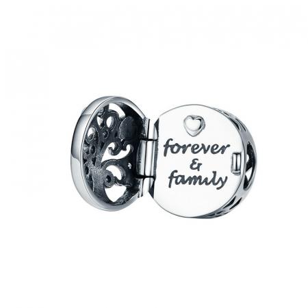 Talisman argint cu copacul vietii si mesaj de dragoste