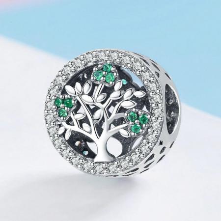 Talisman argint cu copacul vietii si zirconii [2]