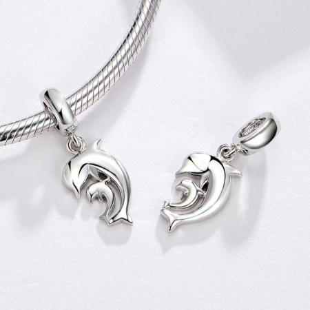 Talisman argint cu delfini [1]