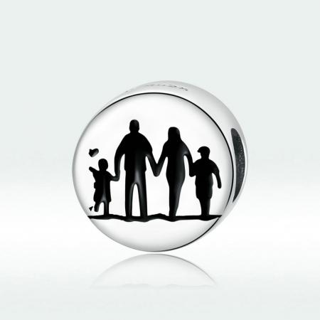 Talisman argint cu Familie Unita4