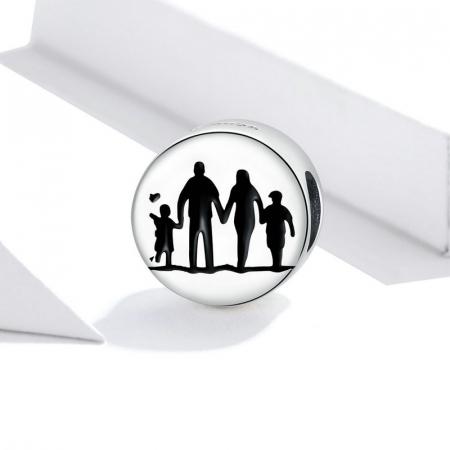 Talisman argint cu Familie Unita2