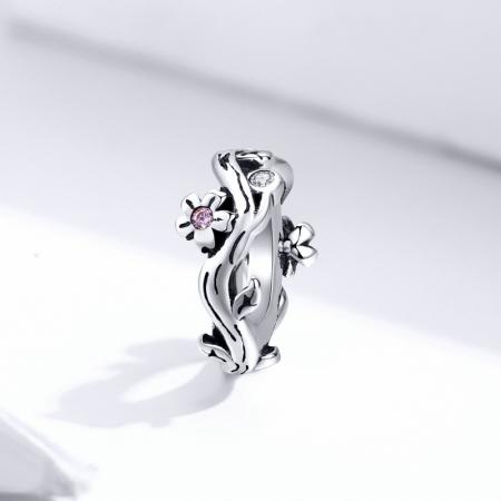 Talisman argint cu flori de cires [2]