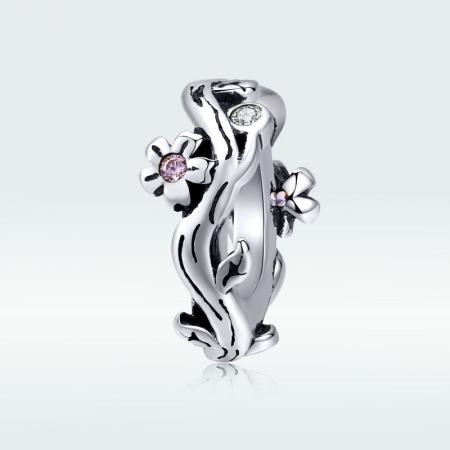 Talisman argint cu flori de cires [4]