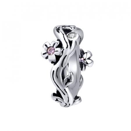 Talisman argint cu flori de cires