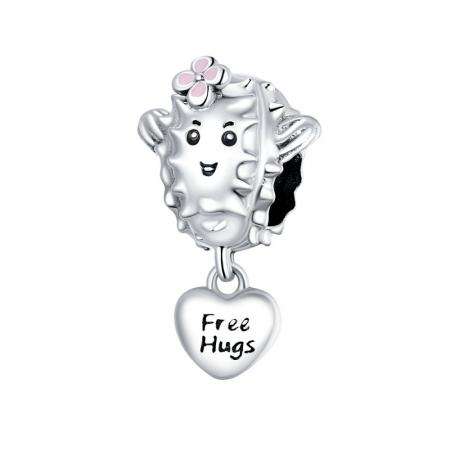 Talisman argint cu free hugs