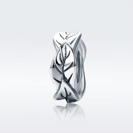 Talisman argint cu frunze1