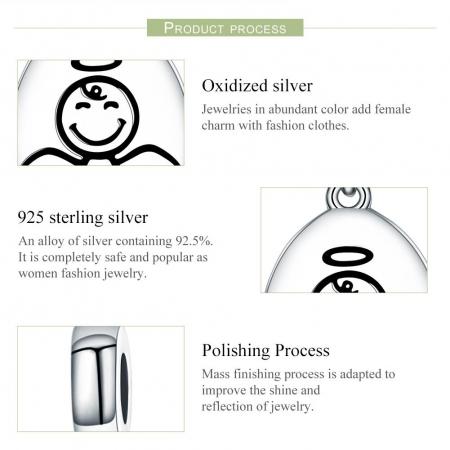 Talisman argint cu inger protector [6]
