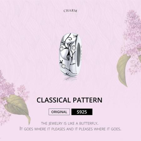 Talisman argint cu model floral si zirconii [5]
