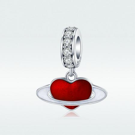 Talisman argint cu planeta inimia rosie si zirconii albe4