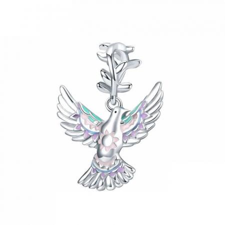 Talisman argint cu porumbelul pacii