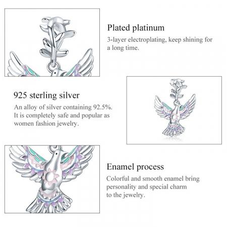 Talisman argint cu porumbelul pacii [3]